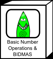 Interactive resources for BIDMAS and basic number operations